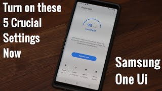 Samsung One Ui - Turn on these 5 Crucial Settings on your Samsung Smartphone (Android 9.0 Pie)