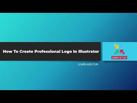 Illustrator Tutorial    Professional logo Design thumbnail