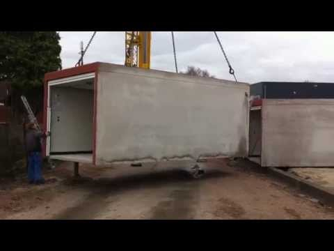 Prefab Garages Beton : Prefab garagebox plaatsen te almelo door boxxen.nl youtube
