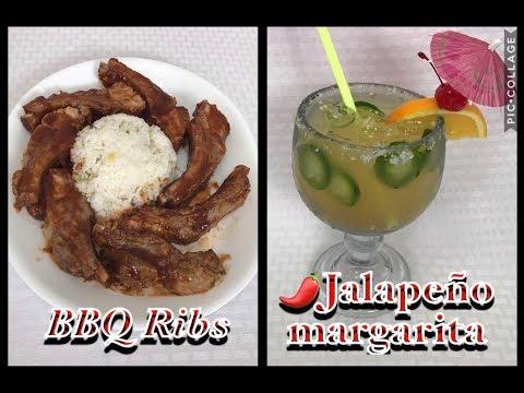 Es Viernes y el cuerpo lo sabe! Costillas de Puerco /margarita de Jalapeño bebidas sin ALCOHOL