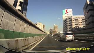 首都高 3号渋谷線上り 用賀PAから 池尻付近まで