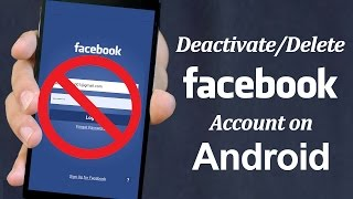 How To Delete Facebook Account On Android Phone Youtube