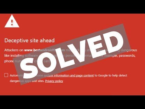 How to fix Deceptive site ahead Error in Google chrome