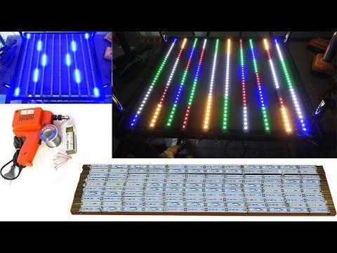 Aquarium model 15 - Making RGB LEDs from Led aluminum/ RGB Led for aquarium