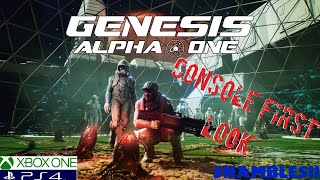 Genesis Alpha One Early Access Console gameplay