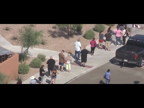 Hundreds Line Up Outside Arizona Casinos For Reopening, Nevada Gaming Remains Shuttered