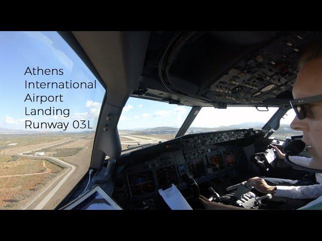 ILS Z approach runway 03L at Athens international airport (ATH LGAV)