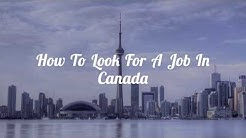 How To Look For A Job In Canada