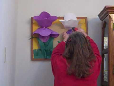 3d Iris Flower Spring Bulletin Board For Schools Youtube