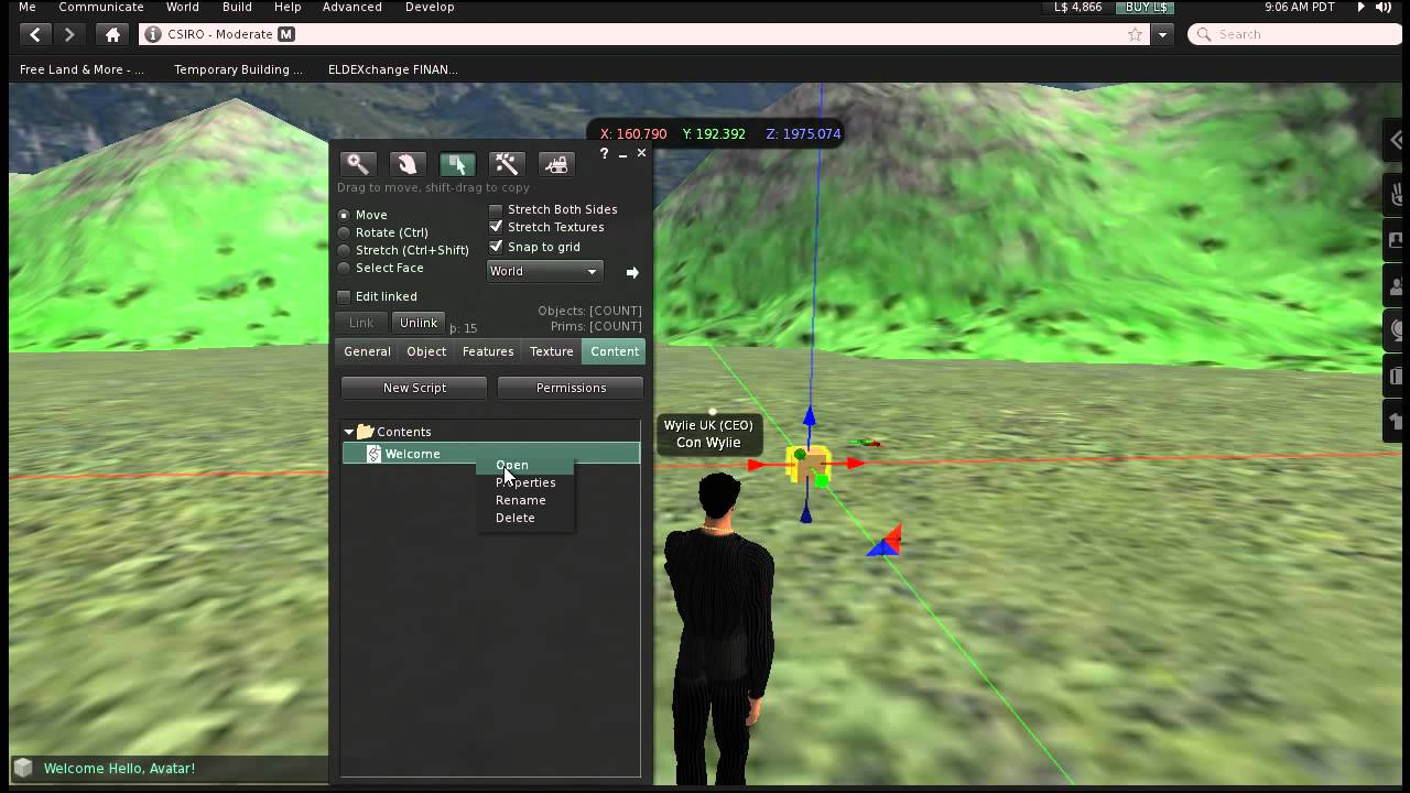 Using Con Wylie's Second Life and Open Sim Script Generator
