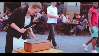 WoodPack Drum - Stunning street performance (Tongue drum percussion)