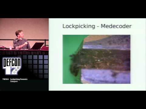 DEFCON 17: Lockpicking Forensics