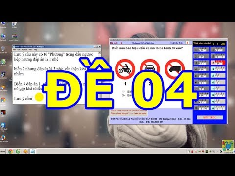 Mẹo thi bằng lái xe A1- 150 câu hỏi thi bằng lái xe A1 (Đề số 4 có tiếng) thibanglaixehn.com