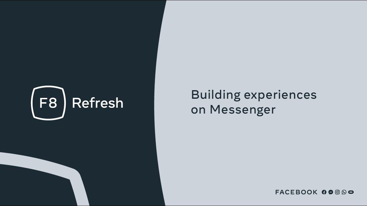 F8 Refresh | Building experiences on Messenger API for Instagram