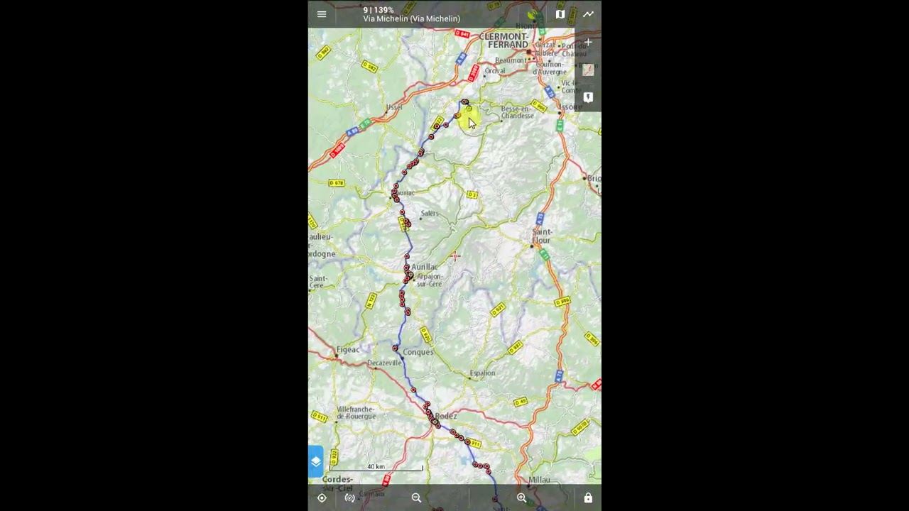 Calculate a route between 4 waypoints with Locus Pro and BRouter (2)