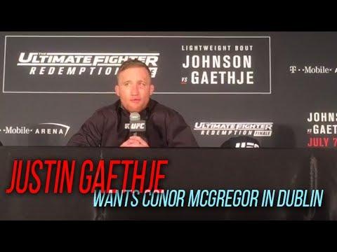 Justin Gaethje wants Conor McGregor in Dublin | TUF 25 Post-fight Presser