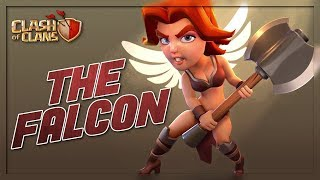 QueenWalk FALCON NEW VALKYRIE ATTACK - THE FALCON ALLOWS TH9's TO 3 STAR ANY BASE | Clash of Clans