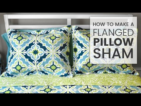 How to Make a Flanged Pillow Sham YouTube