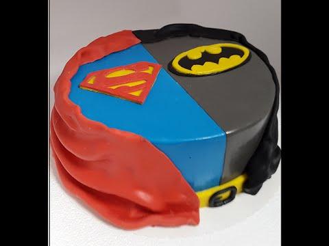 Batman vs. Superman Motivtorte/einfache Fondantaufleger herstellen ...