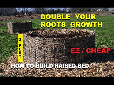 How to Build a Raised Wood Chip Organic Gardening Bed for beginners, Cheap Designs - Part 1