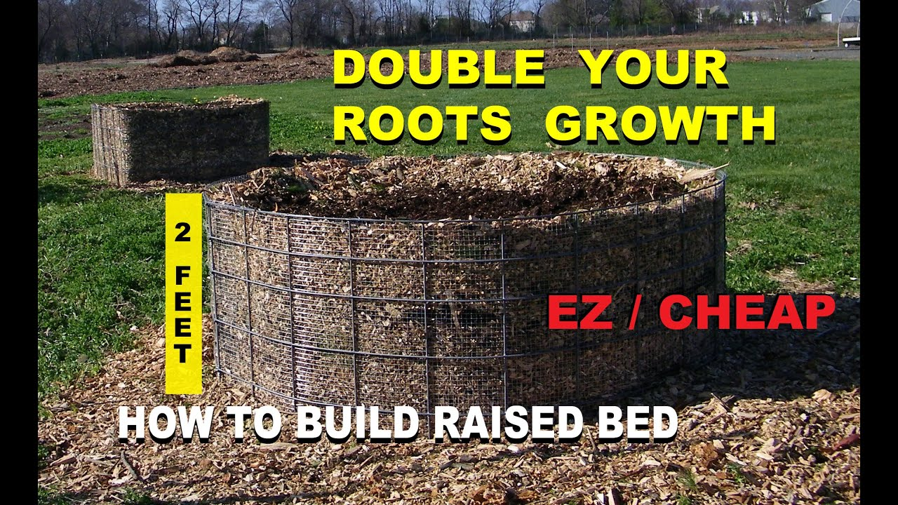 How to Build a Raised Wood Chip Organic Gardening Bed for