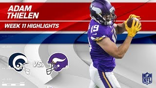 Adam Thielen's 123-Yd & 1 TD Day vs. Los Angeles! | Rams vs. Vikings | Wk 11 Player Highlights