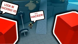 USING HACKS PRANK IN ROBLOX!