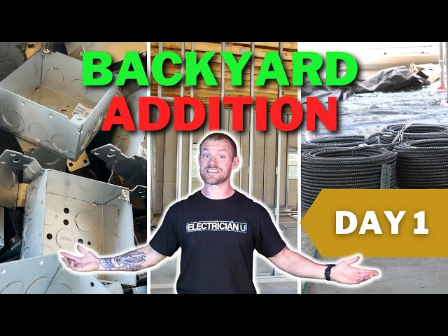 Backyard Addition Job - DAY 1