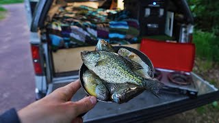 Crappie/Panfish Catch, Camp, Cook in My Truck