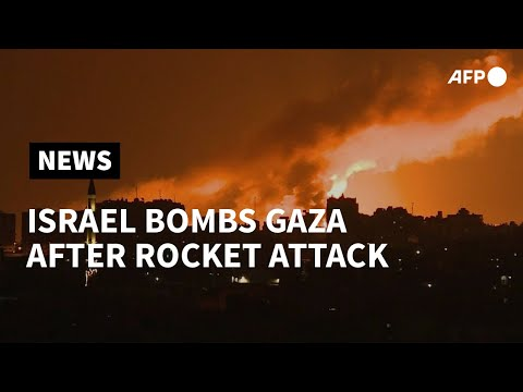 Israel Bombs Gaza After Rocket Attack: Palestinian Security Sources   AFP