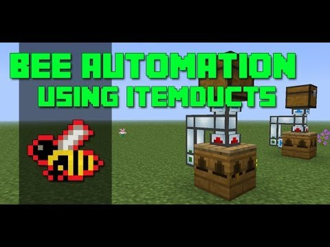 Minecraft Bee Breeding Automation using ItemDucts