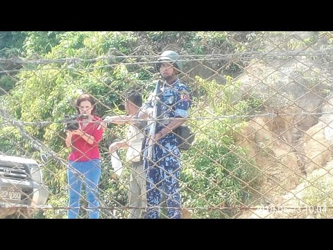 Myanmar state media interview Rohingyas at no man's land and Rohingya say they will not return until