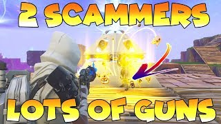 Dumb Scammer Glitches My Game!! (Scammer Gets Scammed) Fortnite Save The World