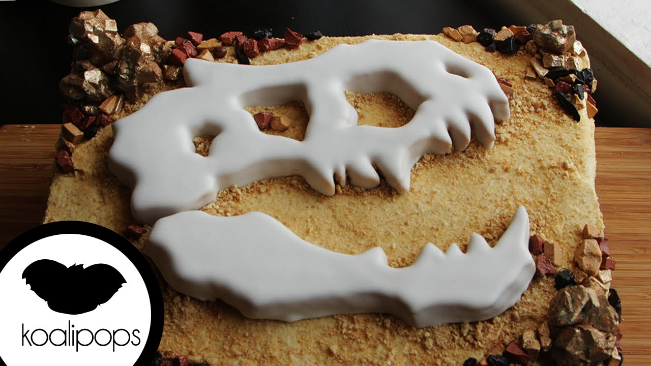 Jurassic World Fossil Cake How To Youtube