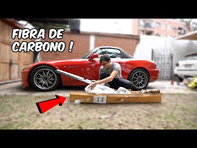 PIEZAS DE FIBRA DE CARBONO AL S2000 *quedó increíble*