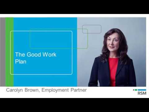 Webinar: The Good Work Plan