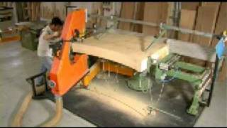 Scott & Sargeant - Articulated Bandsaw Sawing Beams - Www.machines4wood.com