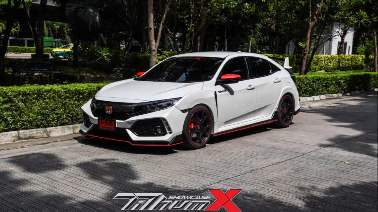 Honda Civic Hatchback FK4R Aaeropart TiThumXShowcase (3pipe & sticker trim) - YouTube