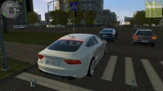 City Car Driving 1.5.1 Audi RS7 (2016) + Driving Force GT