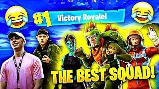 THE *BEST* FORTNITE SQUAD EVER GOES OFF! (Fortnite Battle Royale Funny Moments)