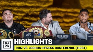 HIGHLIGHTS | Ruiz vs. Joshua II Press Conference (First)