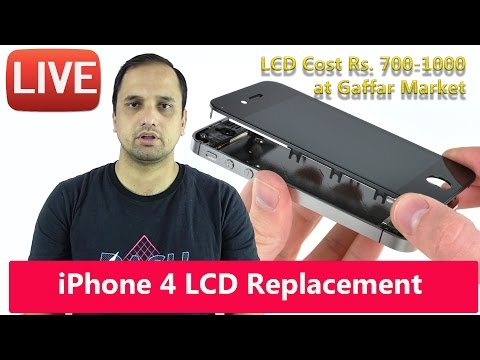 Replacing LCD On iPhone 4: Cost you 700-1200 INR