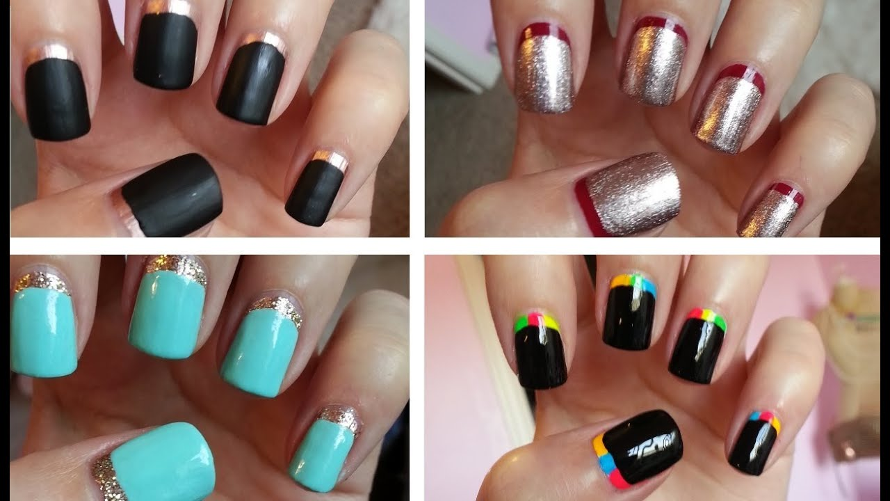 Ruffian manicure four easy designs youtube prinsesfo Images