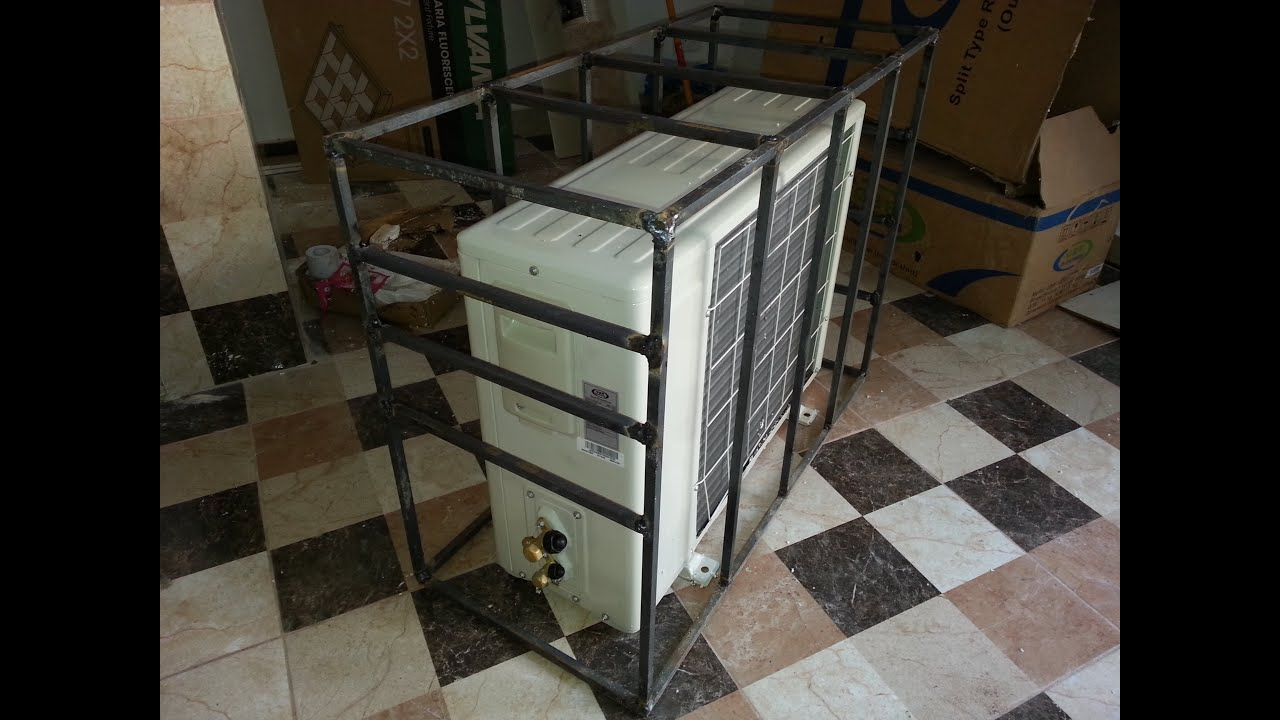 Como hacer rejas seguridad en hierro para aire ac youtube - Rejas de seguridad ...