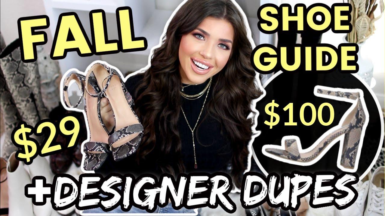 FALL 2020 SHOE GUIDE | DESIGNER DUPES | Walmart, Target, Forever 21 Haul | Affordable Fall Fashion