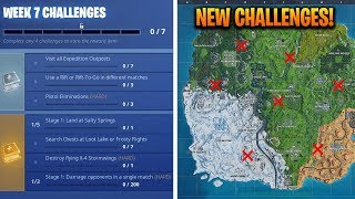 How To Complete ALL WEEK 7 CHALLENGES in SEASON 7 - Fortnite Battle Royale
