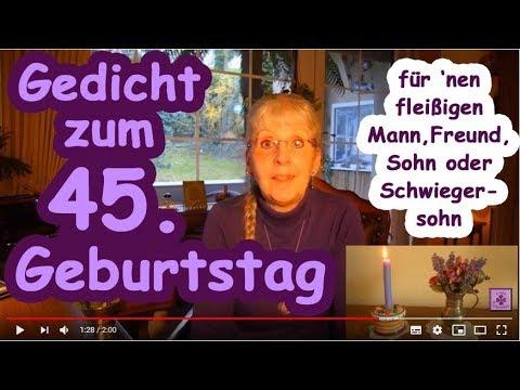Fg259 Glückwunsch Gedicht Zum 45 Geburtstag Für Nen