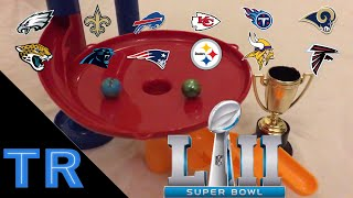 NFL Playoffs 2018 Marble Race Tournament - Who Will Win the Super Bowl? - Toy Racing