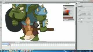 Игровая анимация во флеше (Flash) видео урок! Часть 1