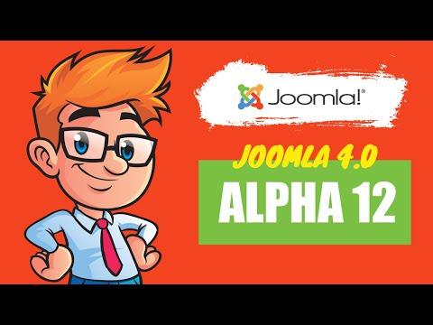 Joomla 4 Alpha 12 - What's New In Joomla 4?